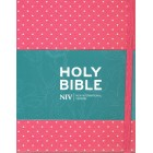 NIV Holy Bible Red and White Polka Dots