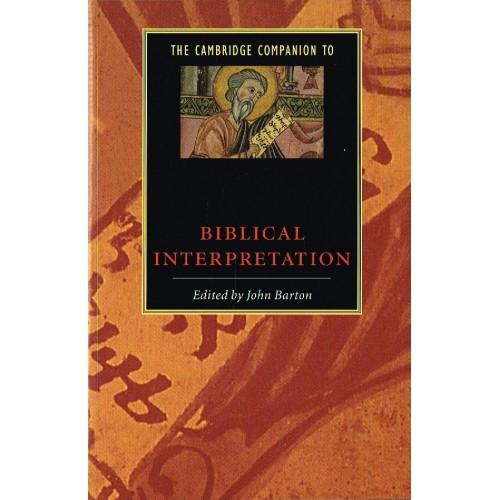 the cambridge companion to biblical interpretation barton john