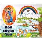 God Loves You Read And Colour by Pauline Shone