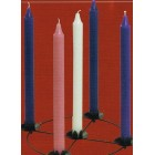 "Pack of Advent candles 12"" x 1"" Purple pink and white"