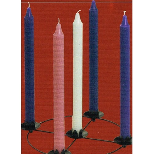 pack of advent candles 12 x 1 purple pink and white. Black Bedroom Furniture Sets. Home Design Ideas