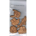 Set Of 5 Wooden Animals