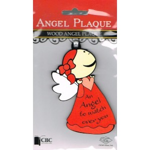 Angel Plaque: Red