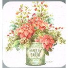 Coaster - Christmas Peace on Earth flowers