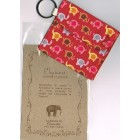 Keyring Purse  with elephant pattern