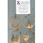 Bauble - Set of 4 Nativity