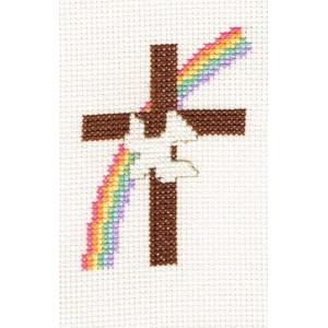 Sampler: Dove on cross