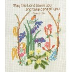 Sampler: Bluebells and flowers