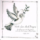Greetings Card - With Love and Prayers 3