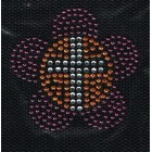 Iron-on patch - Flower with cross