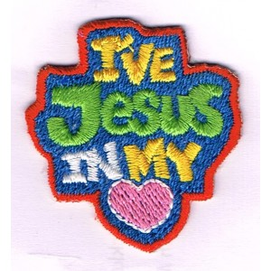 Iron-on patch - I've Jesus in my heart