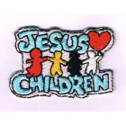 Iron-on Patch - Jesus Loves Children