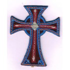 Iron-on patch - Maroon and blue cross