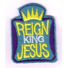 Iron-on patch - Reign King Jesus