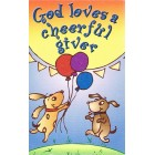 Prayer card - God loves a cheerful giver