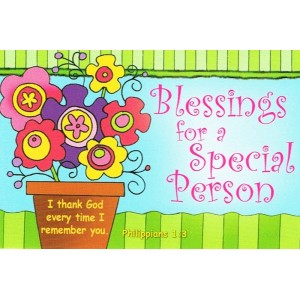 Prayer card - Blessings for a special person