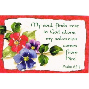 Prayer card - My soul finds rest in God alone