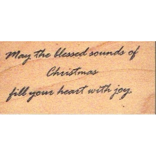 Stamp May The Blessed Sounds Of Christmas Fill Your Heart With Joy