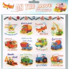 On The Move Stickers