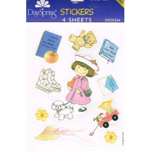Stickers - Girl and things